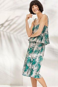 Fanned Palm Dress #anthropologie