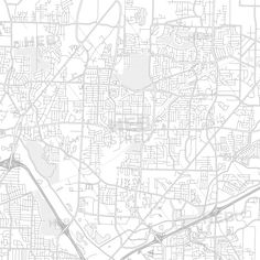 Inglewood, California, USA, bright outlined vector map ...