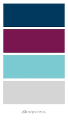 Navy, Sangria, Turquoise, and Silver Wedding Color Palette - custom color palette created at MagnetStreet.com