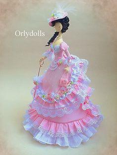 Muñeca hecha a mano muñeca de textil tela muñeca Tilde suave muñeca muñeca coleccionable muñeca de trapo trapo muñeca Interior muñeca señora muñeca sueño muñeca OOAK