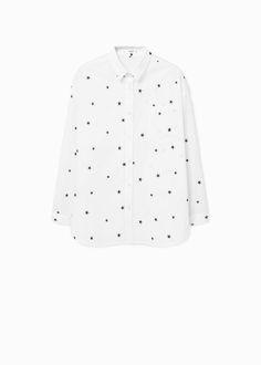 Camisa estrelas bordadas -  Mulher | MANGO Portugal