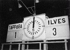 Jääkiekko-ottelu Ilves - Tappara: ratkaiseva ottelu mestaruudesta 15.02.1958
