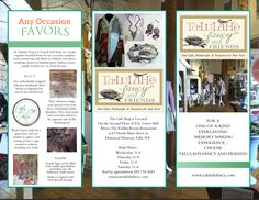 Talulah's Fancy:   Hot Off The Press… Our NEW brochure filled with ...