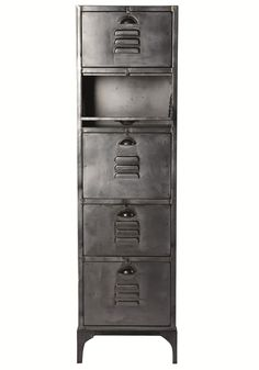 Industrial 5-drawers storage unit (cut-out)