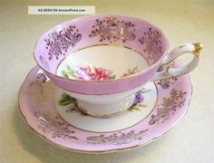 tea cups and saucers -   I collect English tea cups and saucers.