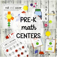 Pre-K Math Centers