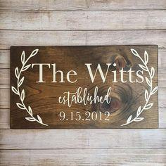 last name sign family name wood sign custom wedding gift