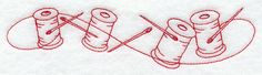 Spools of Thread Border (Redwork)