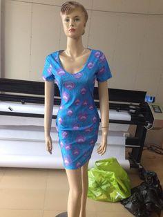 2014 new spring summer bodycon bandage dress peacock print women knee-length party dresses fashion evening clubwear bt093