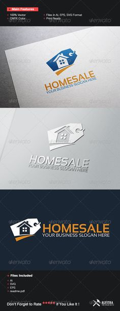 House Sale Logo Template by gunaonedesign on @creativemarket - home for sale template