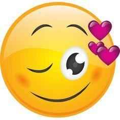 Wink with Hearts Smiley Smiley Emoji, Smiley T Shirt, Heart Smiley, All Emoji, Love Smiley, Emoji Love, Cute Emoji, Facebook Emoticons, Funny Emoticons