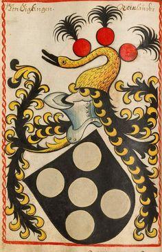 Wappen des Geschlechts Sickingen aus dem Scheiblerschen Wappenbuch um 1495.