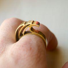Wave/ Ocean Ring. $35.00, via Etsy.