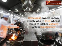 Restaurant owners known exactly who to trust when it comes to kitchen exhaust system maintenance. Contact Us on Kitchen Exhaust, Restaurant Owner, Exhausted, Trust, Things To Come