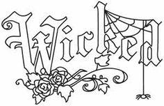 Wicked design (UTH1382) from UrbanThreads.com  ~ <3 K8 <3 ~