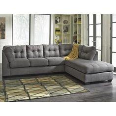 Maier 2-Piece Sectional in Charcoal | Nebraska Furniture Mart