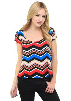 Blue Tribal Cold Shoulder Tassled Top #wholesale clothing ...
