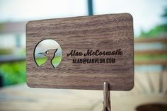 CarveOn  wood business cards, carveon, laser engraved, graphic design, branding, logo, typography