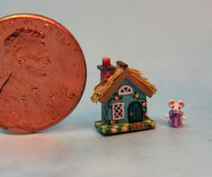 OOAK Miniature Dollhouse Cottage Storybook Tiny Handcrafted Mouse Doll House | eBay