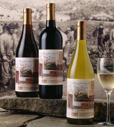 Bartholomew Park Winery wine label design, wine package design, Sonoma. Design by Patti Britton, Britton Design, Sonoma, CA.