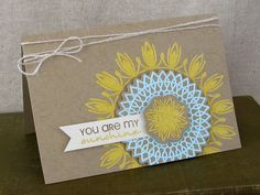 Great color combo on this pretty doily card by Jess Witty!