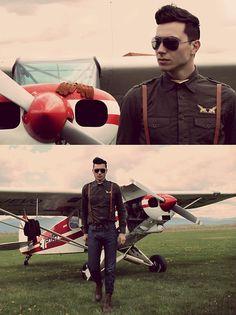 Loving this outfit.  Aviator Ines (by Vladan Gavric) http://lookbook.nu/look/3378563-Aviator-Ines
