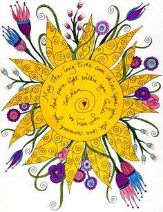 Que o sol de longa data brilhe sobre você  todo amor, e cercá-lo de pura luz dentro de você e então guiar seu caminho em sat nam (verdadeira identidade).