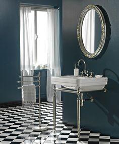 #Sbordoni #Neoclassica #Lavabo 69 cm con struttura metallica | #Ceramica | su #casaebagno.it a 1560 Euro/set | #sanitari #arredo #bagno #arredamento #design