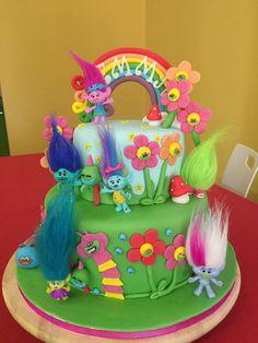 Trolls cake fondant