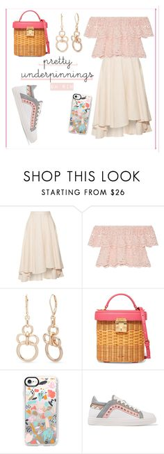 """pastel pretty"" by rindularas on Polyvore featuring Miguelina, Anne Klein, Mark Cross, Casetify, Sophia Webster and pasteldress"