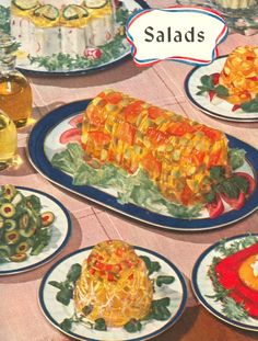 """""""Bright Spots for Wartime Meals"""" 66 Ration wise recipes. I love these old cookbooks from the 40 's and with the bright colored food. Retro Recipes, Old Recipes, Vintage Recipes, Cookbook Recipes, Vintage Cooking, Vintage Food, Gross Food, Food Fails, Vintage Cookbooks"""