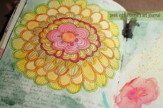 Watercolor doodle in