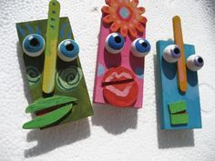 How fun are these? Scrap-wood faces.