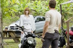 'Jurassic World' Photos Show Off the New Mercedes Coupe Jurassic World Mercedes, Jurassic World 2015, Jurassic World Pictures, Jurassic World Wallpaper, Amblin Entertainment, E Claire, Legendary Pictures, Mercedez Benz, Bryce Dallas Howard