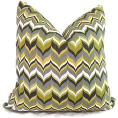 Jonathan Adler Green and Chartreuse Bargello Flame Pillow Cover Pillow Inserts, Pillow Covers, Jonathan Adler, Bargello, Vintage Market, Toss Pillows, Lumbar Pillow, Home Decor Accessories, Chevron