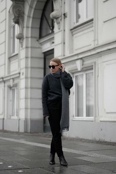 Get this look: http://lb.nu/look/8563555  More looks by Cecilie Krog: http://lb.nu/bykrog  Items in this look:  Acne Studios Acne Virdis Knit, Acne Studios Wool Scarf, Only  Tailored Pants, Acne Studios Acne Jensen Boots, Ray Ban Black Sunglasses   #chic #classic #minimal #acne #acnestudios #jensen #boots #virdis #knit