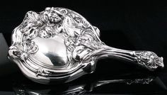 Art Nouveau Sterling Silver Hand Mirror