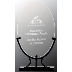 Our Oval Glass on Iron Base Award features a clear oval shaped engraving area on a black iron base. is x is x and is x Each includes free personalized engraving. Glass Awards, Glass Plaques, Glass Picture Frames, Diamond Shapes, Laser Engraving, Iron, Base, Crystals, Glass Photo Frames