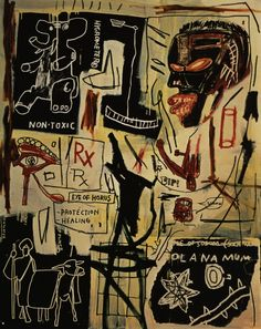 Jean-Michel Basquiat, Melting Point of Ice (Acrylic and crayon on canvas), 1984
