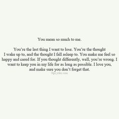 You mean so much