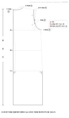 슬리브 원피스 패턴 : 뒷판 : 네이버 블로그