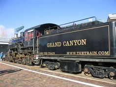 Depot steam train at the depot in Williams Arizona. The Grand Canyon Railway runs from William AZ. to the rim of the Grand Canyon once a day.