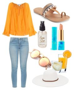 """Bright Summer Brunch"" by kyra-leee on Polyvore featuring Luminarc, tarte, Olivine, Diane Von Furstenberg, J Brand, Mudd and Physician Endorsed"
