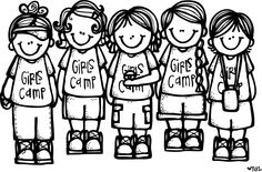 Tons of FREE printable pictures YW, PrImary, missionary etc..Melonheadz LDS illustrating: Girls Camp Illustrations