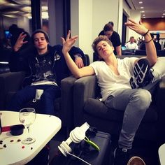 James McVey and Brad Simpson Bradley Simpson, Brad The Vamps, Will Simpson, New Hope Club, Waiting For Love, British Boys, 1d And 5sos, I Fall In Love, Cute Boys