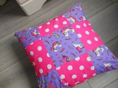 Hey, I found this really awesome Etsy listing at https://www.etsy.com/uk/listing/295194639/patchwork-cushion-girls-bedroom-cushion