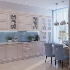Likes, 67 Kommentare - Lee . Kitchen Room Design, Kitchen Cabinet Design, Dining Room Design, Home Decor Kitchen, Kitchen Living, Kitchen Furniture, Kitchen Interior, Home Kitchens, Small Space Interior Design