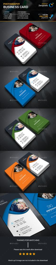 Photography Business Card - #Business Cards Print Templates Download here…