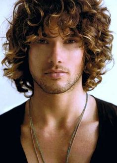 men long hair curly - Google Search
