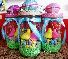 Easter Vintage Mason Jar Gifts